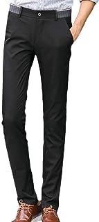 BOLAWOO Pantaloni Elasticizzati Dritti da Uomo Pantaloni Pantaloni Slim Casual Eleganti da Mode di Marca Tasca Tasche Laterali Pantaloni con Tinta Unita Pantaloni