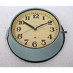 Seiko Vintage Rare Original Maritime Clocks Nautical Ship Slave Clock Quartz Made in Japan Blue Wall Clock