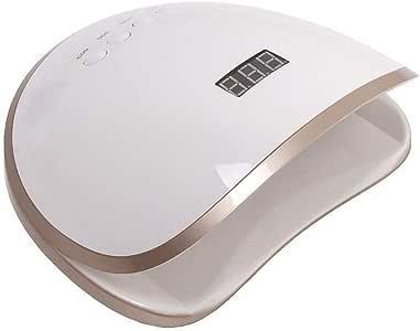 OneChange 48W UV LED Nail Light, 39 Dual LED UV Beads, Sensor, Removable Polymer Tray, Gel Polish (Color : White)