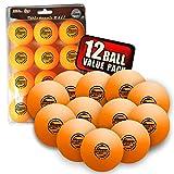 Sportly® Table Tennis Ping Pong Balls, 3-Star 40mm Advanced Training Regulation Size Balls, -12 Pk- Orange