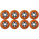 KSS Outdoor Asphalt Formula 89A Inline Skate X8 Wheels, Orange, 76mm