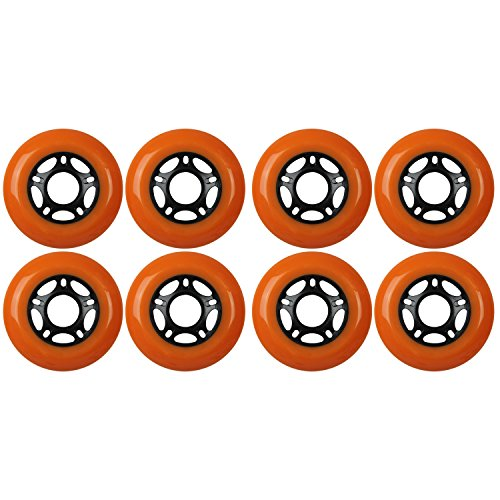 KSS Outdoor Asphalt Formula 89A Inline Skate X8 Wheels, Orange, 76mm
