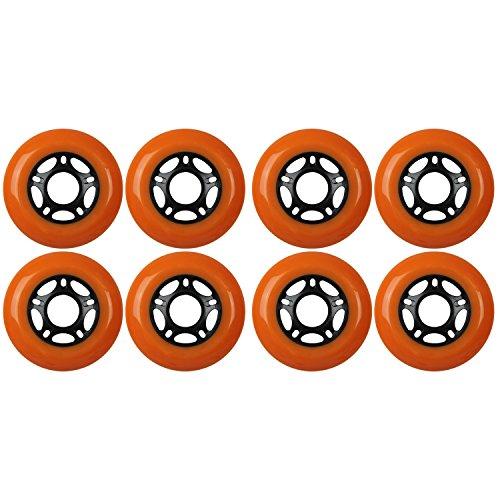KSS Outdoor Asphalt Formula 89A Inline Skate X8 Wheels, Orange, (Hub In Line Skate Wheels)