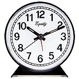 La Crosse Technology Equity by 14075 Black Analog Wind-Up Alarm Clock