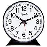 Equity by La Crosse 14075 Black Analog Wind-Up Alarm Clock