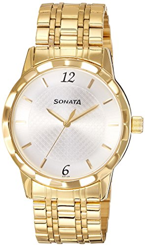 Sonata Analog Silver Dial Men's Watch (7113YM01)