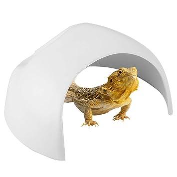 Pssopp Cueva de Reptiles - Caja de escondites de Reptiles Refugio de Reptiles Acuario Tanque de Peces Decorar Adornos de Cuevas Decoración para Lagarto ...
