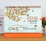 2016 Korean Leaf calendar Colorful leaves calendar small desk Creative calendar school office supplies (colorful leaves)