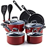 Cook N Home 12-Piece Nonstick Stay Cool Handle Cookware Set, Blue