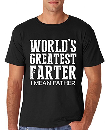 AW Fashions Worlds Greatest Farter, I Mean Father - Funny Dad Shirt Premium Men's T-Shirt (XX-Large, Black)