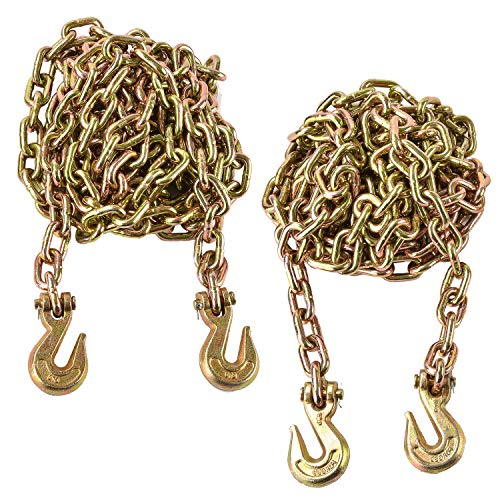 SUNCOO 2Pcs Grade 70 Transport Tow Chains 3/8