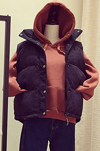 Student short paragraph vest female autumn and winter new Korean loose thick corduroy vest cotton jacket bread service for women girl