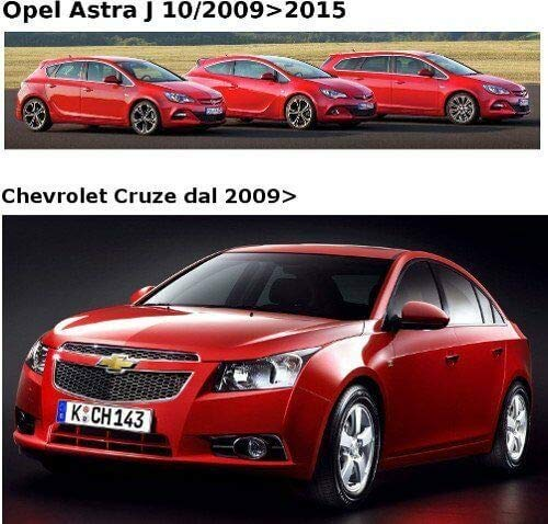 Amazon.es: Il Tappeto Auto SPRINT03405 - Alfombrilla para Coche, Negra, Antideslizante, Borde Bicolor, talonera de Goma Reforzada, para Astra J 10/2009>2015 ...