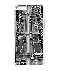 VUTTOO Iphone 6 Plus Case, California Street Polycarbonate Plastic Case Back Cover for Apple Iphone 6 Plus 5.5 Inch PC Transparent