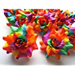 24-Silk-Rainbow-Roses-Flower-Head-175-Artificial-Flowers-Heads-Fabric-Floral-Supplies-Wholesale-Lot-for-Wedding-Flowers-Accessories-Make-Bridal-Hair-Clips-Headbands-Dress