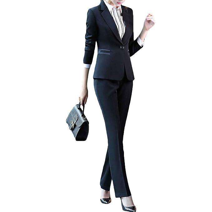 Amazon.com: Juego de chaqueta y pantalón para mujer, 2 ...