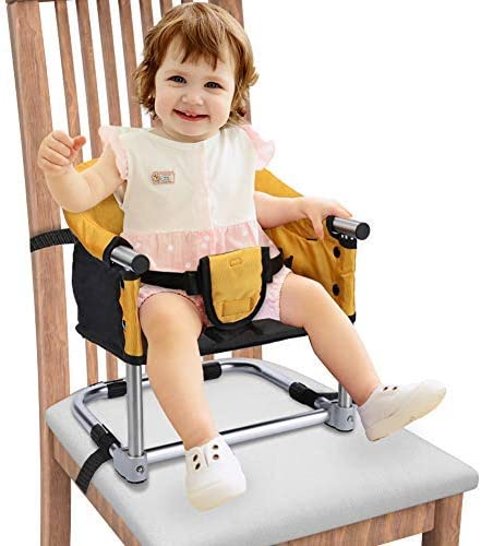 Folding High Chair Toddler Protable Highchair Infant Feeding Seat with Harness