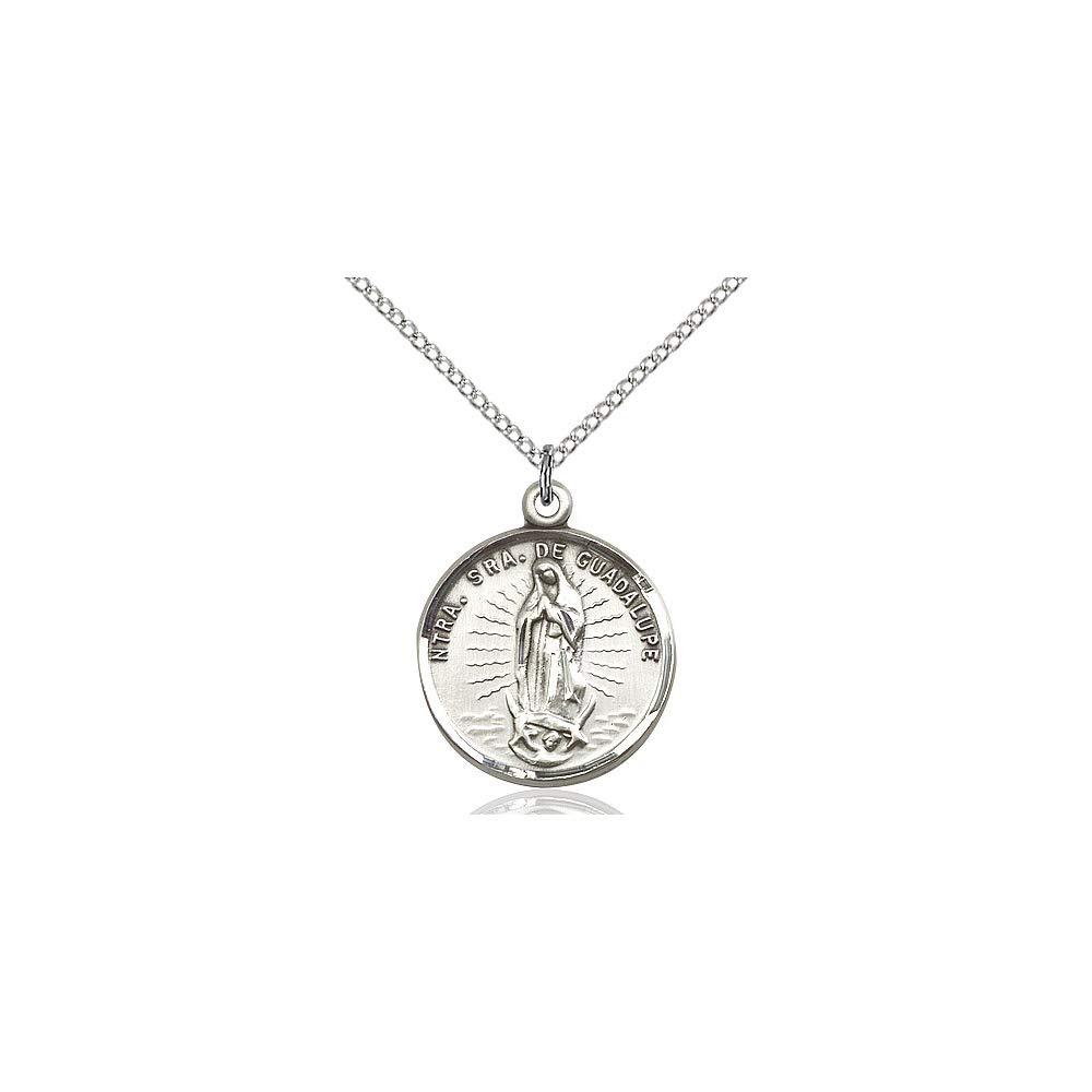 DiamondJewelryNY Sterling Silver O//L of Guadalupe Pendant