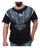 Automotive : Harley-Davidson Men's Upswept Eagle Premium Short Sleeve Tee, Grease Black (S)