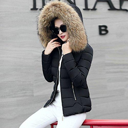 Moda Caldo E Di Corta Cappuccio Giù Trend Donna Giubbotto Con Giacca Inverno Autunno Grande Wanyang Nero wRHx00