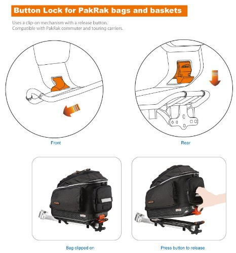 Ibera PakRak Bicycle Seat Post Commuter Rack and Quick-Release Bag by Ibera (Image #7)