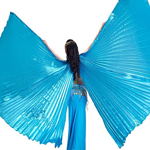 Pilot-trade Women's Egyptian Egypt Belly Dance Costume Bifurcate Isis Wings Sky Blue
