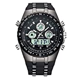 Watch Mens Watches Sport Military Digital Multifunction Waterproof LED Calendar Chronograph Alarm