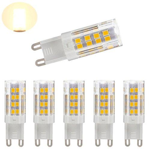 130v 4 Bulbs (G9 LED Dimmable Light, Bi-pin Base, Warm White 3000k,4W ( 40W Halogen Equivalent ) T4 JD Type LED G9 Bulb 400LM, AC100V-130V (5 pack))