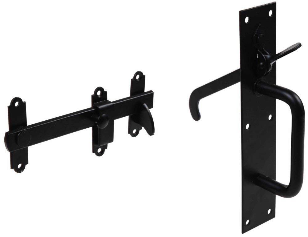 Gatemate 5230023 Heavy Duty Suffolk Style Gate Latch - Black Finish