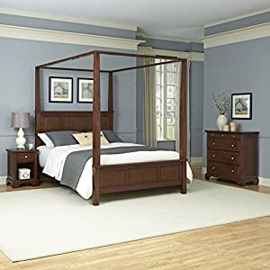 Home Styles Furniture 5529-6202 Chesapeake Poster Bed and Two Night Stands