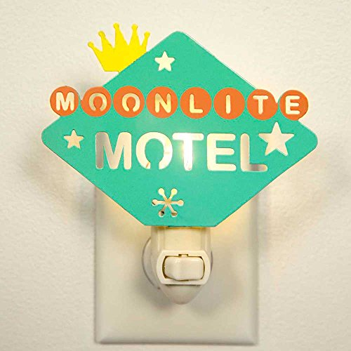 Decorative Night Light Wall Lamp Plug in, Moonlite Motel Nostalgic Retro Home Decor. Indoor Light for Bathroom, Bedroom, Hallway, Stairs, Laundry Room and Walk-in Closet Compact and Energy Efficient.