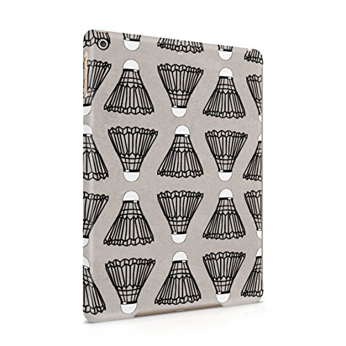 (Indoor Outdoor Badminton Shuttlecock Birdie Pattern Plastic Tablet Snap On Back Case Cover Shell For iPad Air 1)