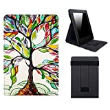 WALNEW Stand Cover for Kindle Paperwhite - Magnetic Auto Sleep/Wake Cover Vertical Flip Case with Hand Strap for All-New Amazon Kindle Paperwhite (Lucky Tree)