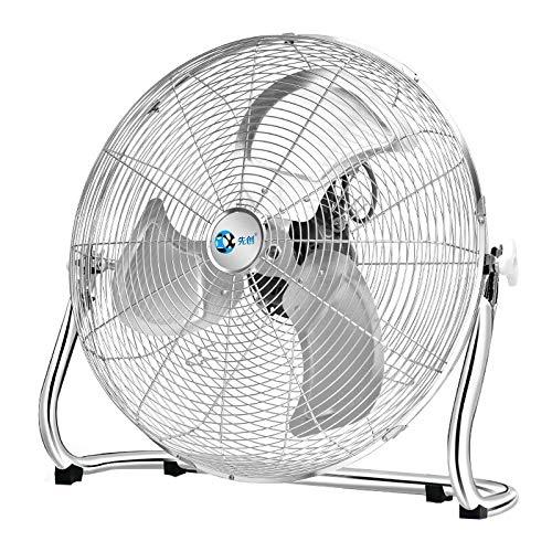 (Industrial High Velocity Drum Fan/Metal Floor Fan/High Velocity Orbital Drum Fan/Chrome Finish Stand Fan/Industrial Fan 3 Speed and Adjustable Fan Head)