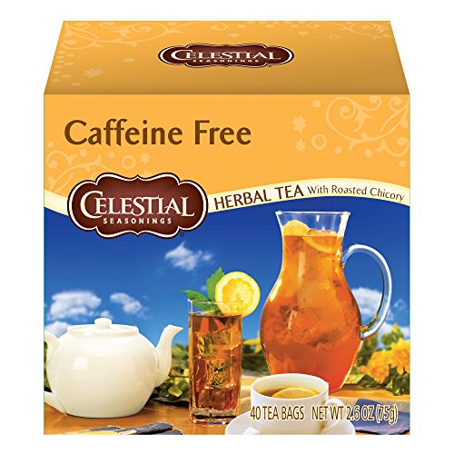 - Celestial Seasonings Herbal Tea, Caffeine Free with Roasted Chicory, 40 Count (Pack of 6)