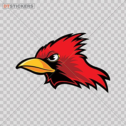 Decal Stickers Angry Cardinal Motorbike Boat (9 X 5,76 In. ) Fully Waterproof Printed vinyl sticker