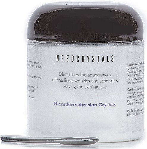 NeedCrystals Microdermabrasion Crystals, All-Natural Skin Face Exfoliator Treatment for Dull or Dry Skin, Wrinkles, Blemishes, Acne Scars & More