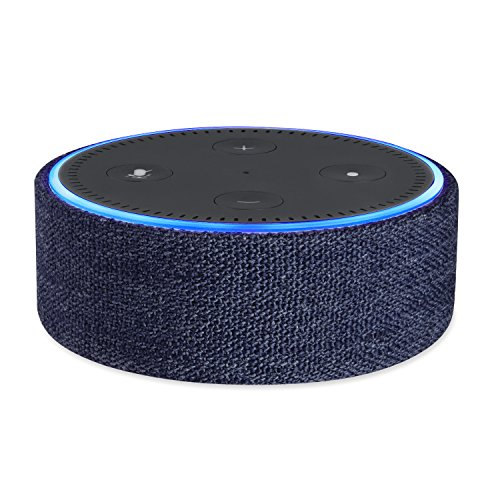 Protective Fabric Case Cover for 2nd Generation of Echo Dot; Protect and Accessorize Alexa in Gorgeous Fabric Covers by Wasserstein - Tone For Best Skin Color My Is What