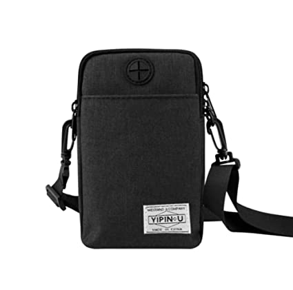 bettergoods one Multinational Outdoor Sport 3 Layers Zipper Storage  Crossbody Cell Phone Purse Waterproof Moblie Phone Wallet Shoulder Bag  Waist Pouch for ... a9f05df76dcd7