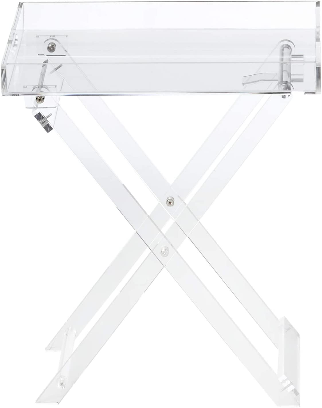 Acrylic Folding Tray Table Modern Chic Accent Desk