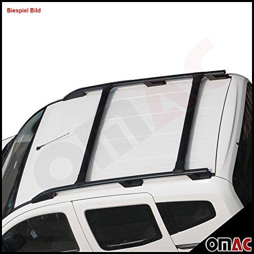 BRUSHED BLACK ALUMINIUM ROOF CROSS BARS Nissan QASHQAI 2007-ON