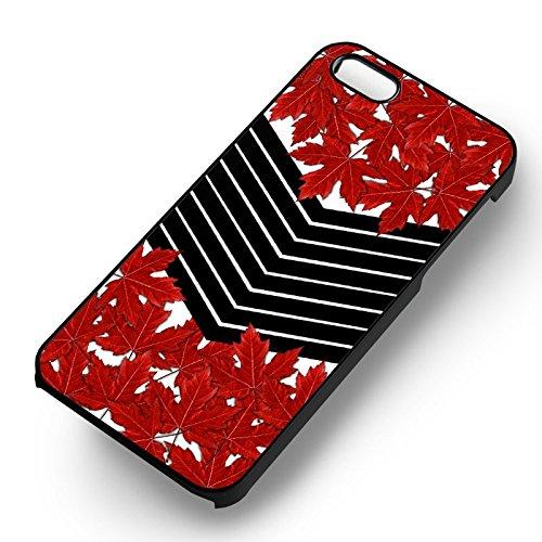 Maple Leaf Chevron pour Coque Iphone 6 et Coque Iphone 6s Case (Noir Boîtier en plastique dur) L7G7VM