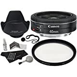 Canon EF 40mm f/2.8 STM Lens + Polaroid Optics 52mm Multi-Coated UV Protective Filter + Deluxe Polaroid Accessory Kit