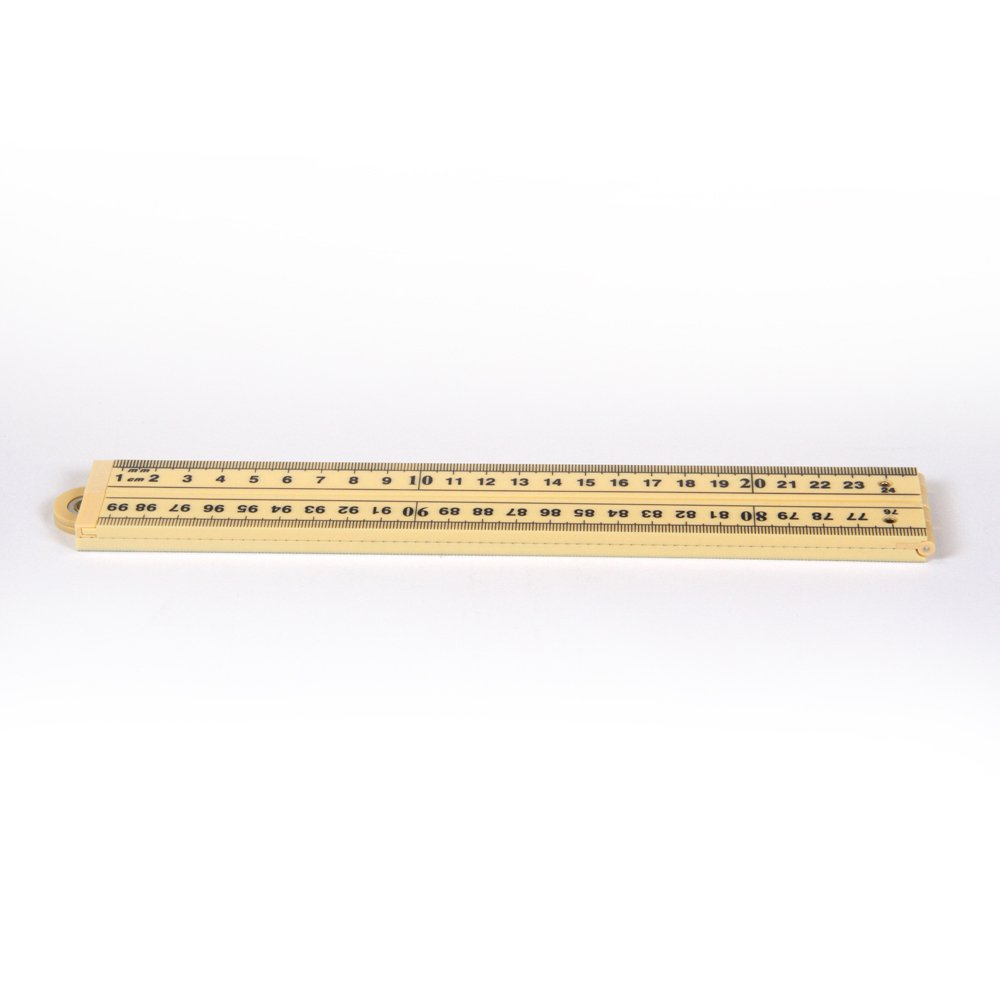 hand2mind Plastic, Wood Colored, Folding Meterstick/Yardstick for School Classroom, Home, or Office (Pack of 6)