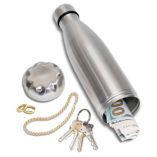 Diversion Water Bottle Can Safe | Stainless Steel Tumbler Safe by Stash-it | Bottom Unscrews to Store Your Valuables! by Stash-it