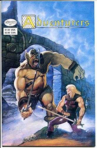 ADVENTURERS #3, VF to NM, Aircel, Warriors,Swords, Ogre, Dwarf. (Dwarf War Sword)