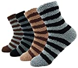 Men's Comfort Crew Sock 4 Pack Casual Floor Socks, Multi Color_style 3