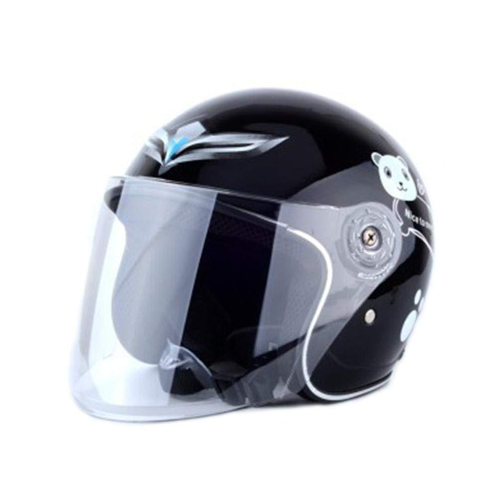 Welltobuy Casco Ajustable de ventilaci/ón de Resistencia de Impacto de Medio Casco para ni/ños con Parasol para ni/ños Ciclismo Montar