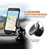 Mpow Car Phone Holder,Washable Strong Sticky Gel Pad with One-Touch Design Dashboard Car Phone Mount for iPhone 7/7Plus/6s/6Plus/5S, Galaxy S5/S6/S7/S8, Google Nexus, Huawei and More