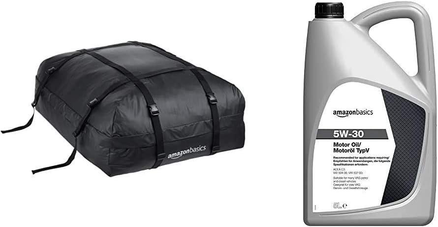 AmazonBasics -Portaeqiupajes baca, Negro, 425 L: Amazon.es: Coche y moto